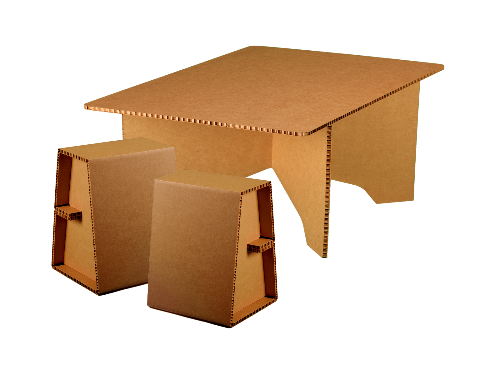 cardboard coffee table chairigami intros a range of