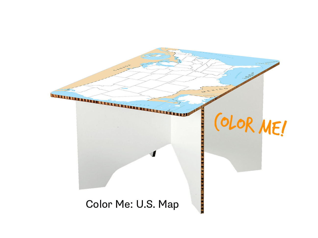 Milo Coffee Table - Us map color