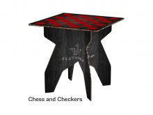Cobb Square Table Chess and Checkers